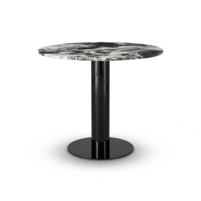 Tube Dining Table Black Primavera Top 900mm
