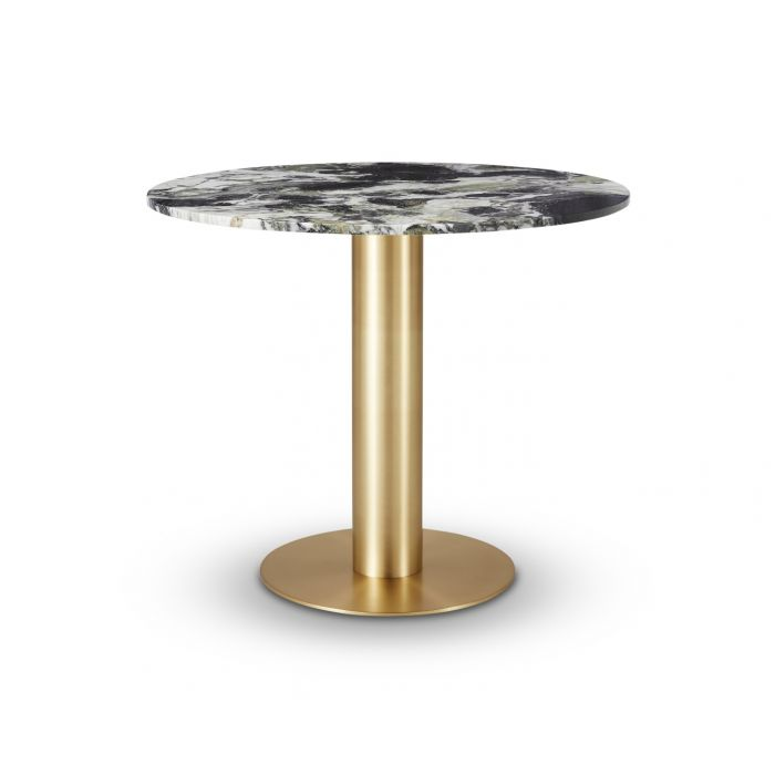 Tube Dining Table Brass Primavera Top 900mm