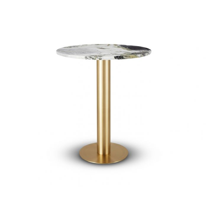 Tube High Table Brass Primavera Top 900mm