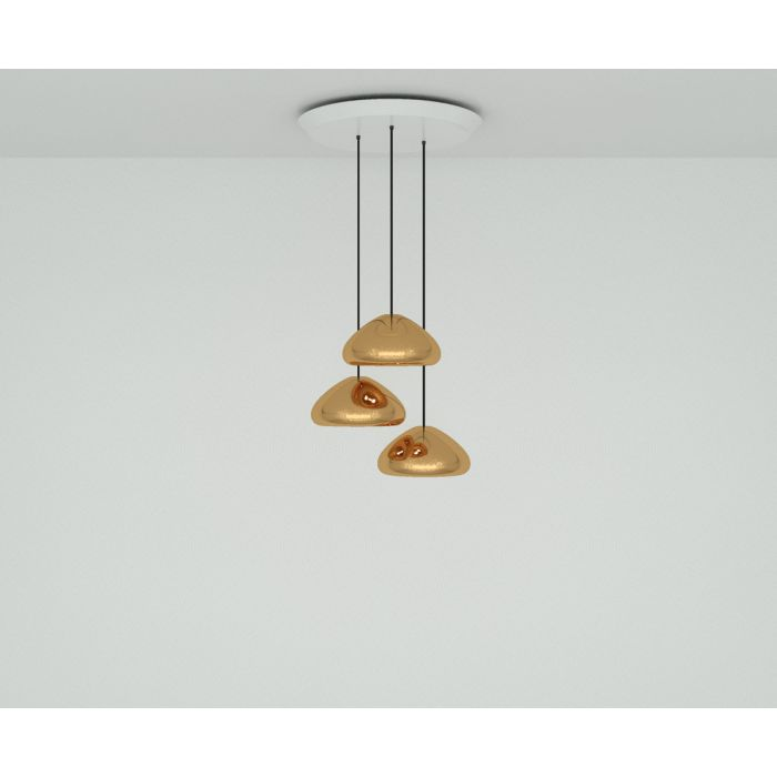 Void Copper Trio Round Pendant System
