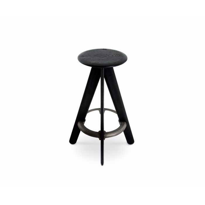 Slab Bar Stool Black