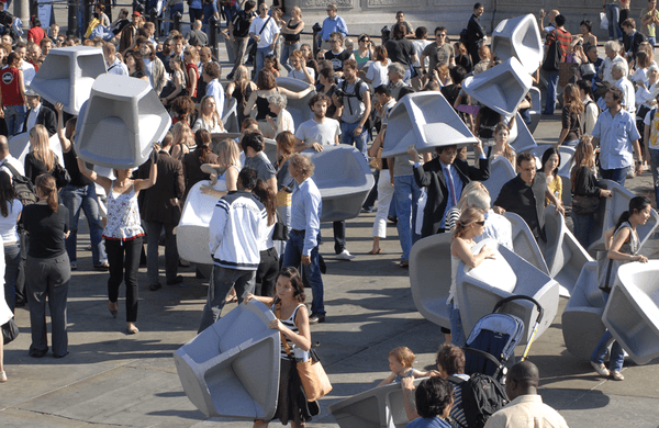 Tom Dixon Trafalgar sq polystyrene chair grab