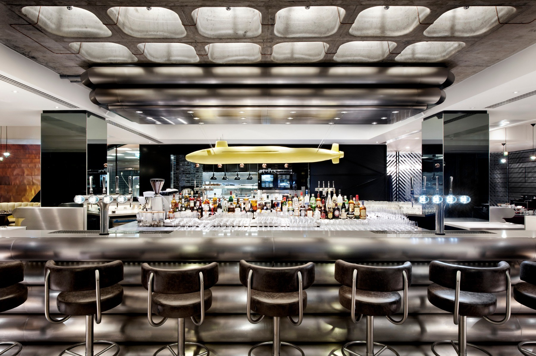 Mondrian Hotel in London, interiors by Tom Dixon's Design Research Studio.