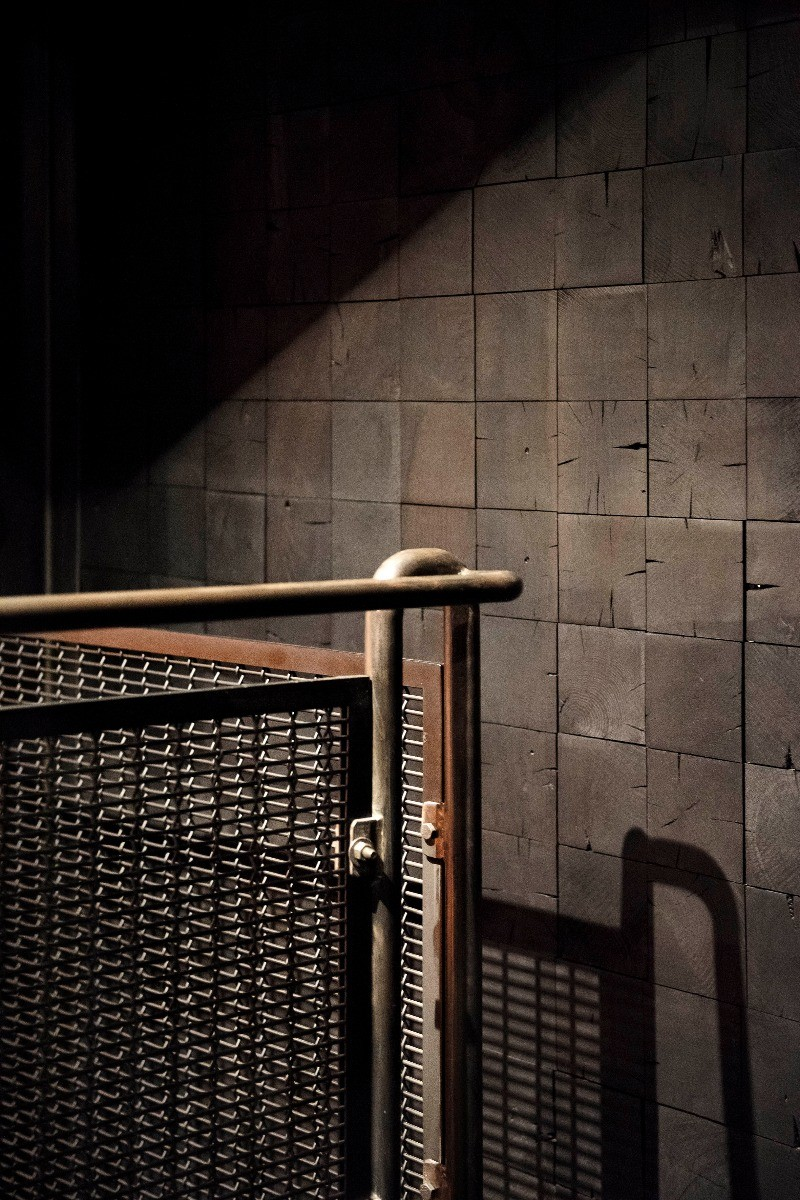 Wood and metal details of the Tom Dixon designed Himitsu Bar in Atlanta, USA.