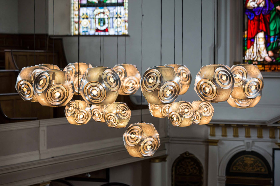 Curve chandelier by Tom Dixon