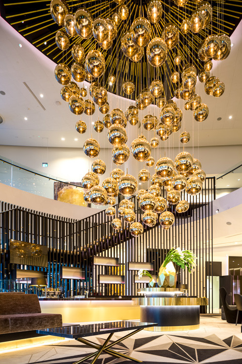 Mirror Ball Light by Tom Dixon in the Hilton Hotel in Estonia