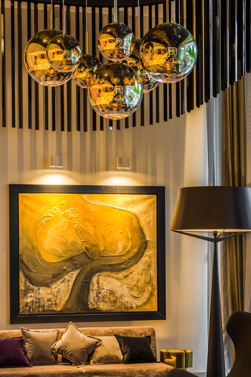 Tom Dixon Mirror Ball lighting in the Hilton Hotel, Estonia