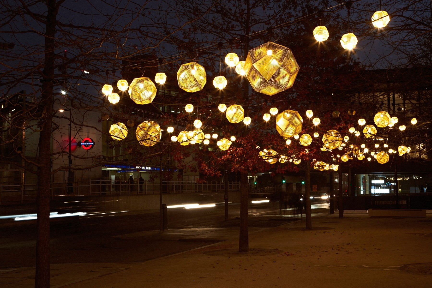 Tom Dixon's Christmas Lights at Television Centre