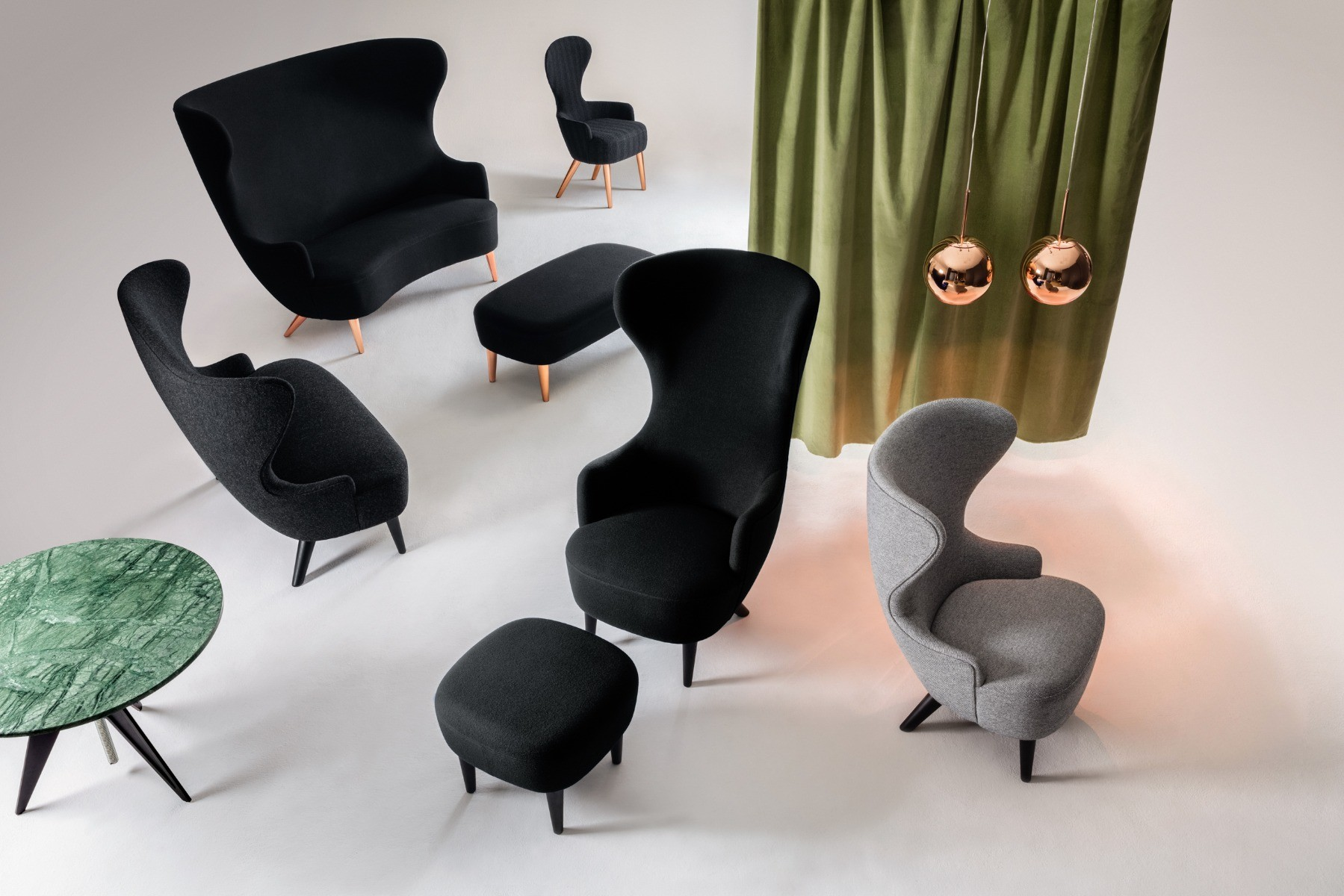 Wingback by Tom Dixon including the new Micro Wingback