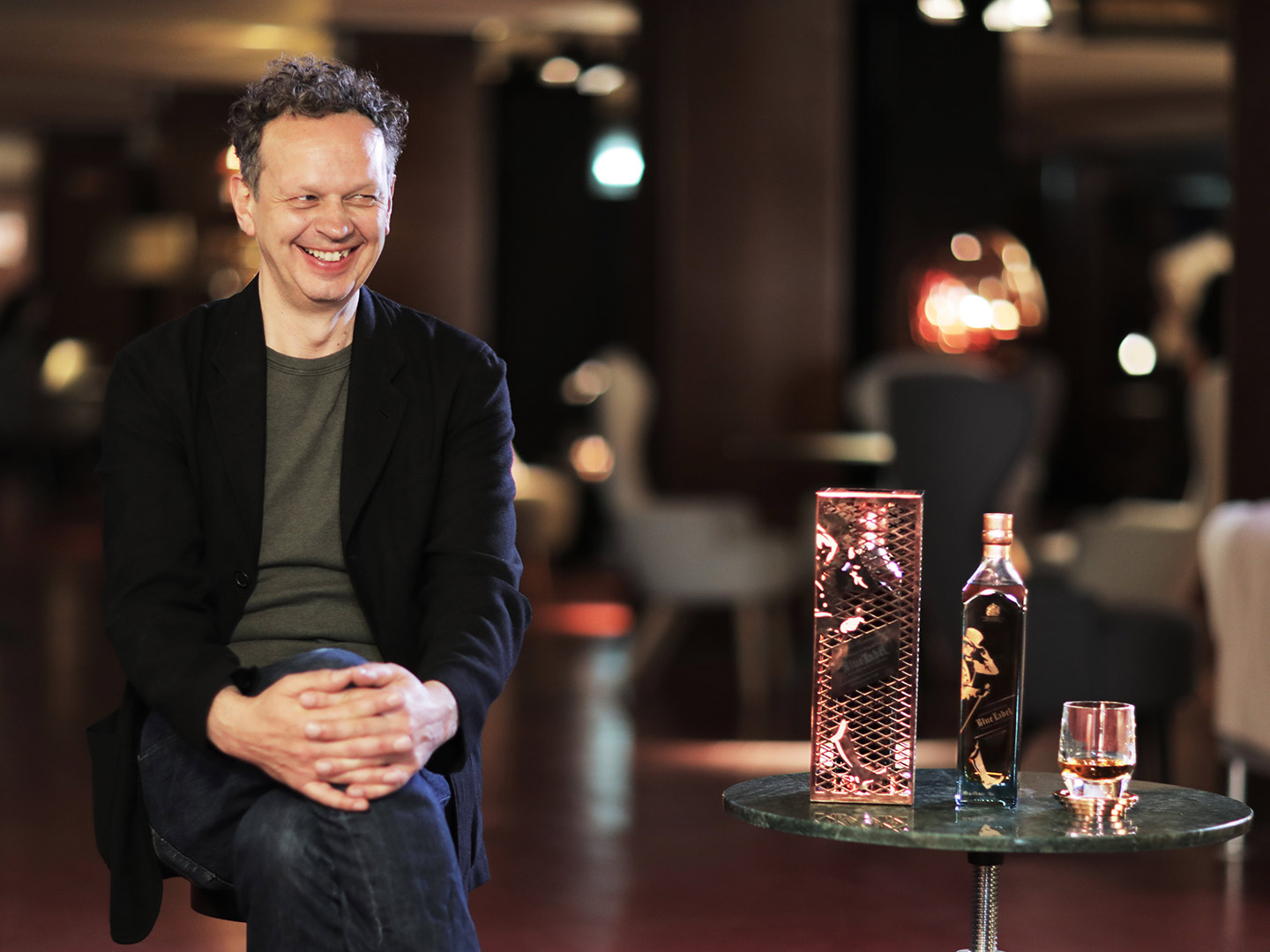 Tom Dixon and Johnnie Walker