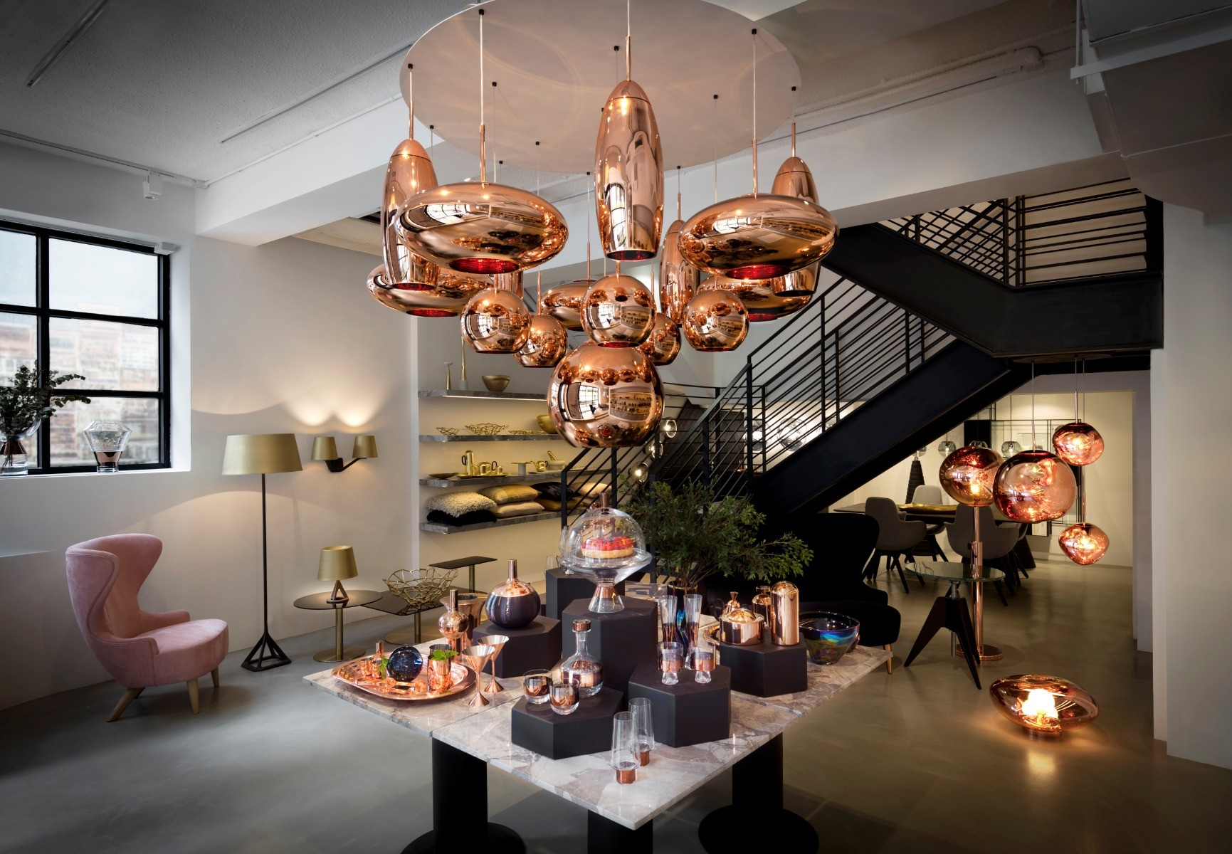 Tom Dixon in Hong Kong featuring Copper lighting
