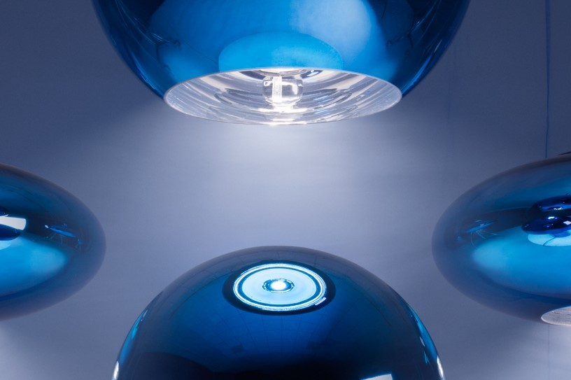 Tom Dixon's new blue lighting