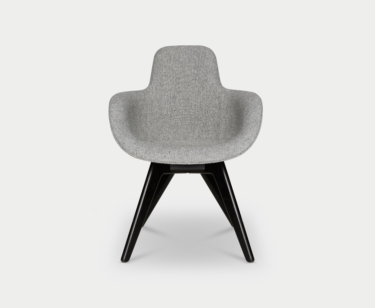 Scoop Chair High Back Black Legs