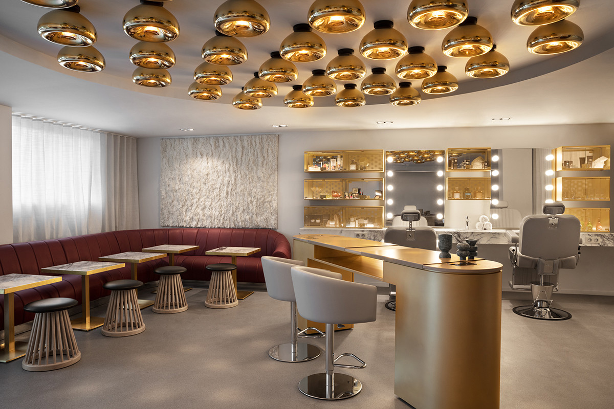 The beauty salon design by Tom Dixon with Void lights