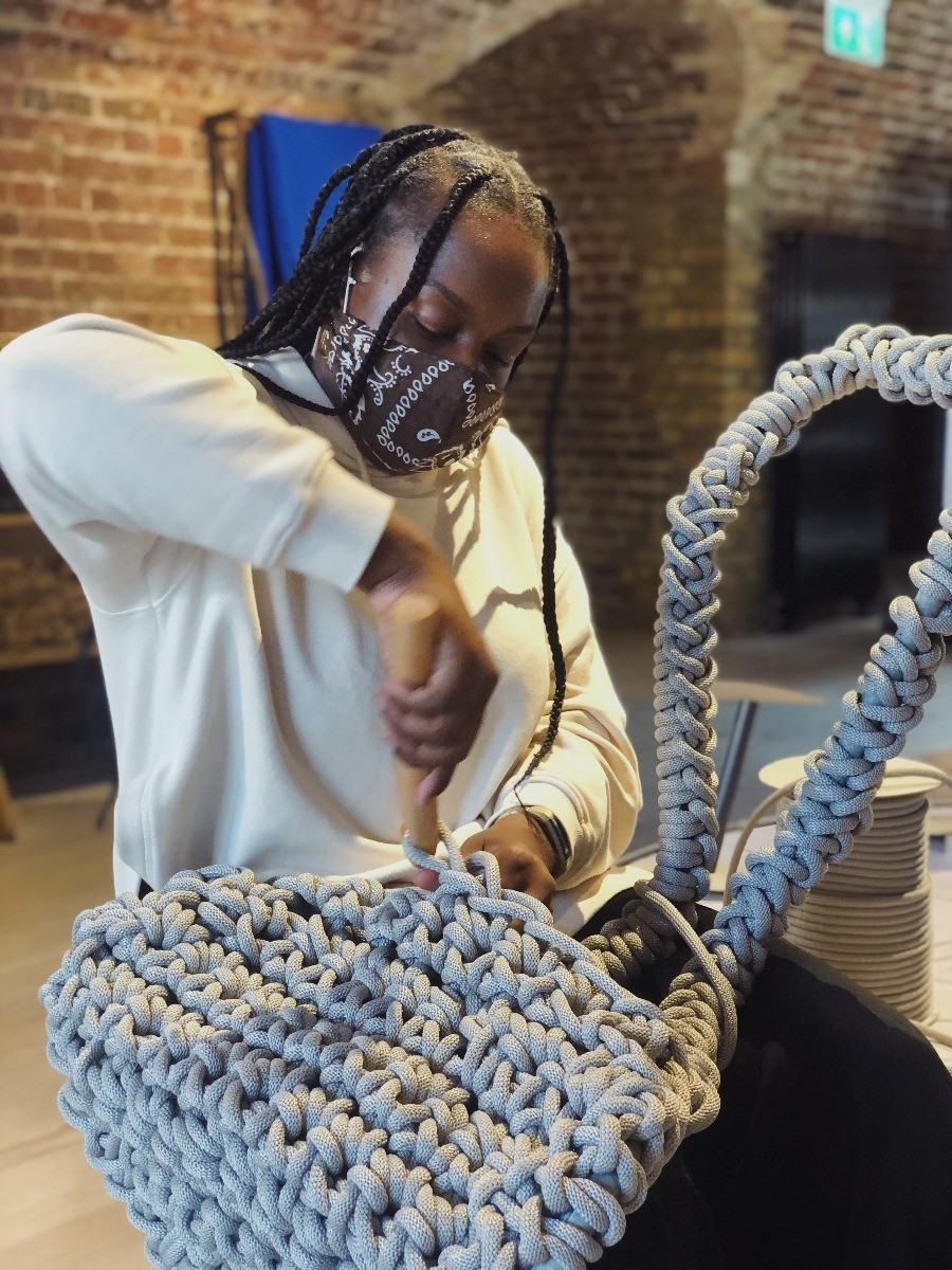 Peju Obasa crochets the Tom Dixon S Chair