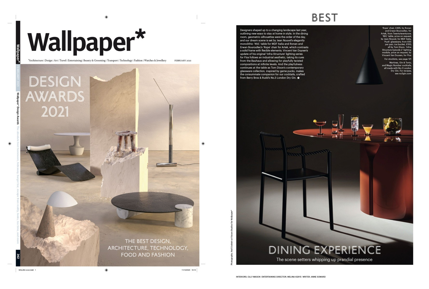 PUCK Our new cocktail and drinking range wins 2021 Wallpaper* Design Award: Best Dining Experience