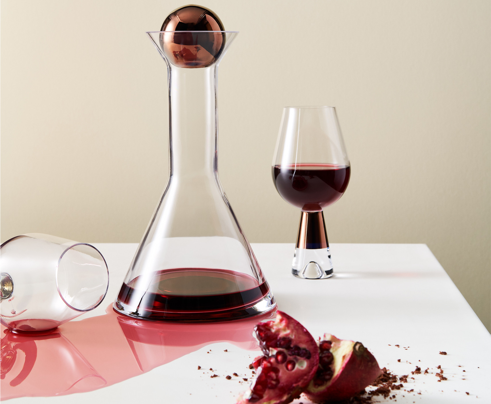 Tank Wine Glasses and Decanter